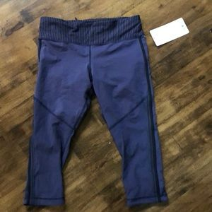 Lululemon purple crop new